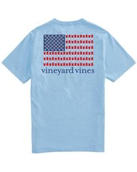 Vineyard Vines In The Usa Short Sleeve Pocket T-shirt - Blue