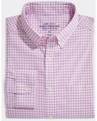 Vineyard Vines - Classic Fit Gingham On-the-go Shirt In Performance Brrr° - Lyst