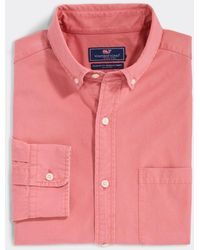 Vineyard Vines Classic Fit Solid Twill Murray Button-down Shirt - Pink