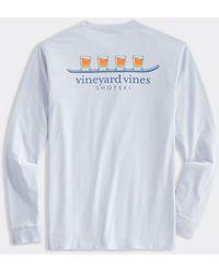 Vineyard Vines Shotski Long-sleeve Pocket T-shirt - Blue