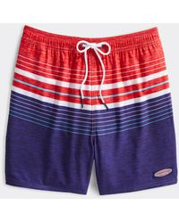 Vineyard Vines Big & Tall Printed Chappy Trunks / Swimsuit - Red