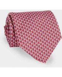 Vineyard Vines Usa Printed Neck Tie - Red