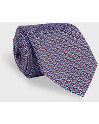 Vineyard Vines Snapper Printed Neck Tie - Blue