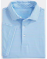Vineyard Vines Blank Winstead Stripe Sankaty Polo Shirt - Blue