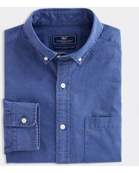 Vineyard Vines Classic Fit Solid Twill Murray Button-down Shirt - Blue