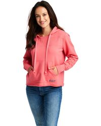 Vineyard Vines Over-dyed Beach Hoodie Shep Shirt Pullover - Red