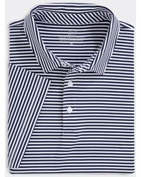 Vineyard Vines Boys Winstead Stripe Sankaty Performance Polo Shirt - Blue