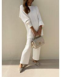 Vita Grace Chryssie Knitted Pant Suit - Multicolour
