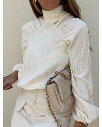 Vita Grace Arabella High Neck Textured Jumper - Multicolour
