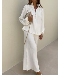 Vita Grace Palma Fine Gauge High Waisted Trouser - Multicolour