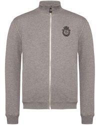 Billionaire Band Collar Sweatshirt - Grey