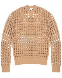 Bottega Veneta Sweater With Cut-outs Brown