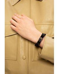 Ferragamo Bow Leather Bracelet - Black