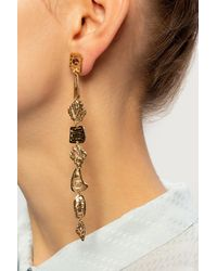 Givenchy Drop Earrings With Logo - Metallic