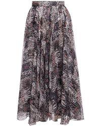 Alaïa Patterned Skirt Multicolour
