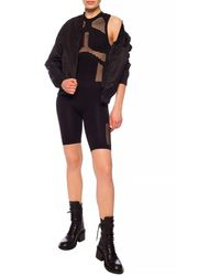 Unravel Project Body With Sheer Inserts Black