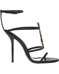 Saint Laurent 'cassandra' Stiletto Sandals - Black