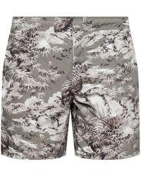 AllSaints - 'java' Printed Swimming Shorts - Lyst