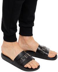 Philipp Plein Branded Slides Black
