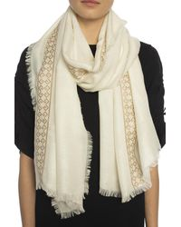 Givenchy Branded Scarf Cream - Natural