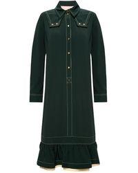 Lanvin Ruffled Dress Green