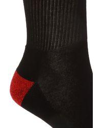 Marcelo Burlon Logo-embroidered Socks Black