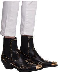Versace Medusa Head Heeled Ankle Boots Black