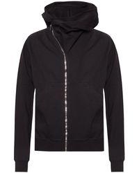 Rick Owens DRKSHDW Sweatshirt With Asymmetrical Zip Black