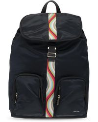 Paul Smith Backpack With Numerous Pockets - Blue