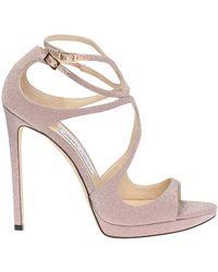 Jimmy Choo 'lance' Stiletto Sandals - Pink