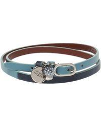 Alexander McQueen Skull Motif Bracelet - Blue