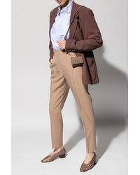 AMI Pleat-front Pants - Natural
