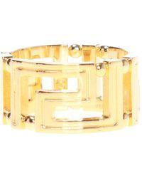 Versace Greek Key Pattern Ring - Metallic