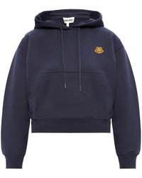 KENZO Patched Hoodie - Blue