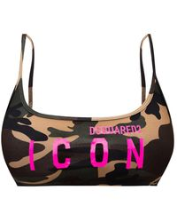 DSquared² Sports Bra With Logo - Brown