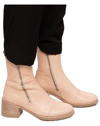 Ann Demeulemeester Heeled Ankle Boots Beige - Natural