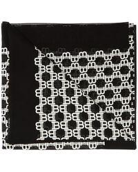 Balmain Patterned Scarf - Black