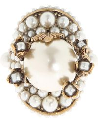Gucci - Ring With Pearls - Lyst