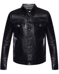Saint Laurent - Leather Jacket With Pockets - Lyst