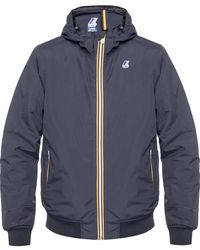 K-Way 'justin' Hooded Jacket - Blue