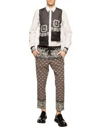 Dolce & Gabbana Shirt With Silk Scarf White