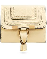 Chloé 'marcie' Wallet With Logo - Yellow