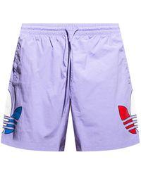 adidas Originals Swim Shorts With Logo - Purple