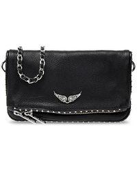 Zadig & Voltaire Shoulder Bag With Logo - Black