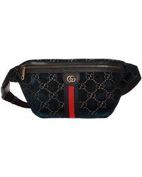Gucci GG Velvet Belt Bag - Blue