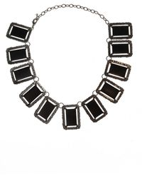 Midgard Paris ' Mirror' Brass Necklace - Black