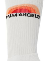 Palm Angels Socks With Logo White