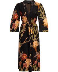 AllSaints 'carine' Floral-printed Kimono - Black