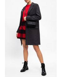 Zadig & Voltaire Coat With Notch Lapels Gray
