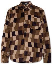 Stussy Corduroy Shirt With Pocket - Brown